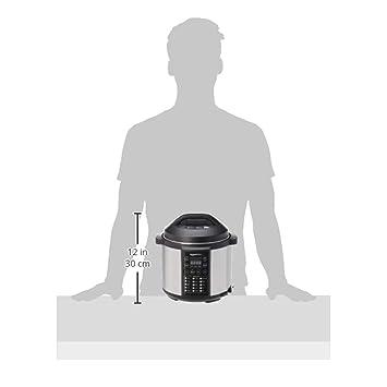 AmazonBasics - Vaporizador eléctrico multiuso 23 en 1, 5,5 l ...