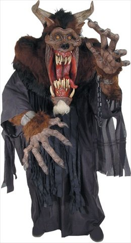 Demon Beast Creature Reacher Deluxe Oversized Mask and (Oversized Halloween Costumes Adults)