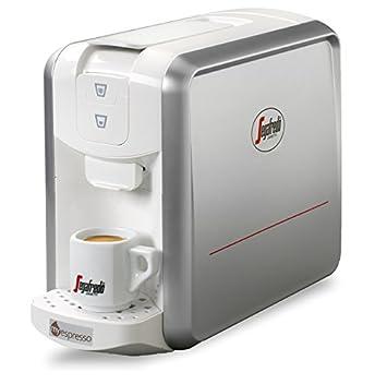 PROMO PRIMAVERA: Espresso 1 Silver White+ 20 capsule 'Il Gusto del Vero Espresso'+ 10 capsule Decaffeinato Segafredo System