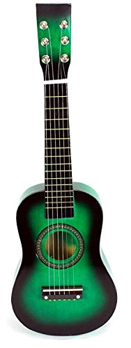 Acoustic Classic Rock 'N' Roll 6 Stringed Toy Guitar Musical Instrument w/ Guitar Pick, Extra Guitar String (Green)