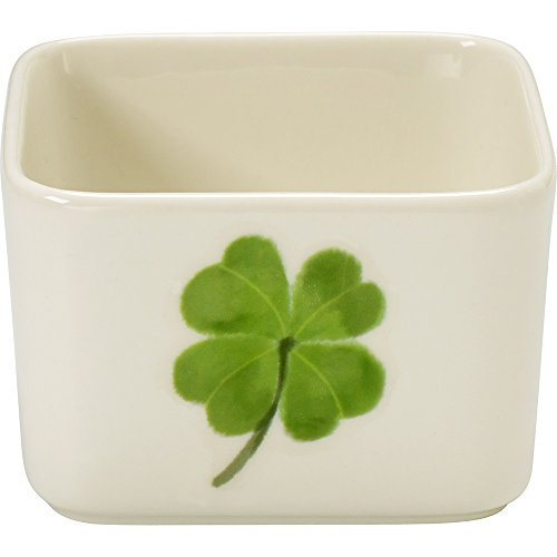 Celebrations by Precious Moments 171524 7 oz St. Patrick's Day Shamrock Porcelain Appetizer and Dip Serving Bowl, 2.25-inches