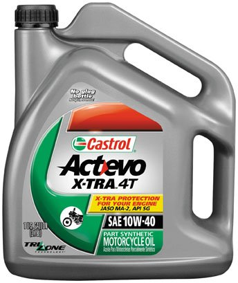 Castrol 10W40 Actevo X-tra 4T Motorcycle Oil - 1 Gallon 3166 (packagin may vary) (Best 4t Oil For Motorcycle)