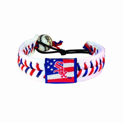Chicago White Sox Bracelets - MLB Chicago White Sox Stars and Stripes Baseball Bracelet