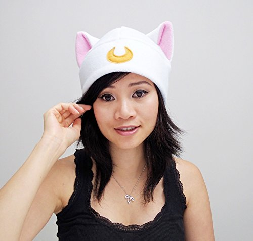 Sailor Moon Artemis Cat Hat Anime Manga Cosplay Convention Costume Beanie Toque Hat Punk Goth Rave Ski Snowboarding Halloween Christmas gift ()