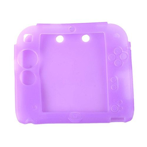 Purple Silicone Protective Case (Protective Soft Silicone Rubber Gel Skin Case Cover for Nintendo 2DS (PU))