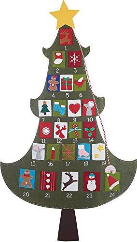 Large 5 ft. Christmas Tree Advent Countdown Felt Calendar