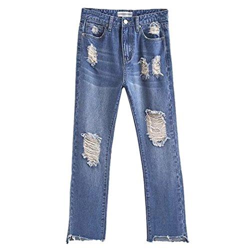Taille Slim Femmes Mode Pantalon Fit Jeans Denim Large WanYang Haute Flared Bleu Casual Bootcut Jeans qEdnzFIwx