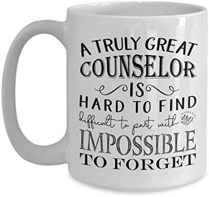 A Truly Great Counselor is Hard to Find Coffee Mug - Best Appreciation Gifts Idea for Guidance High School Mental Health College Substance Abuse Drug Counselors for Men or Women (11oz, white)