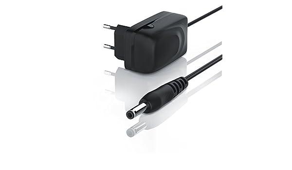 Aplic - 2 A - Fuente de alimentación/cargador con cable | conector CC conector coaxial macho 3,5 mm x 1,35 mm | 2000 mA adaptador de carga | longitud de ...