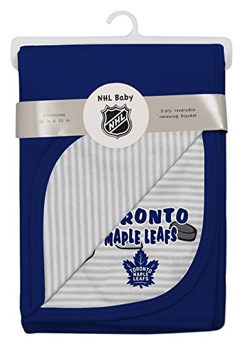 Outerstuff NHL Toronto Maple Leafs Layette Newborn Lil Center Blanket, One Size, Cool (Nhl Baby Blanket)