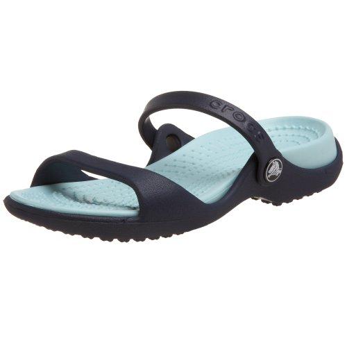 Crocs 10043 Crocs Women's Cleo Slide,Navy/Seafoam,4 M ...