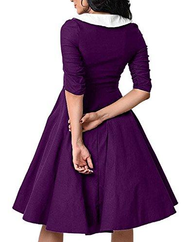 Pinkyee - Vestido - para mujer morado