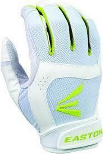 Easton Women's Stealth Core Batting Gloves (Large, White/Optic)