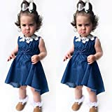 ChouZZ Toddler Baby Girl Denim Dress Sleeveless