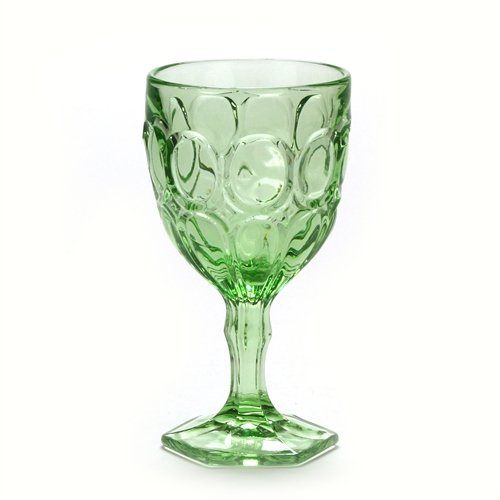 Moonstone Green by Fostoria, Glass Water Goblet