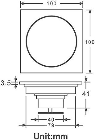 Color : Black YSSP-A Drains Bathroom Black Waste Drains Floor Cover Anti-Odor Washroom Shower Drain Strainer Bath Hardware