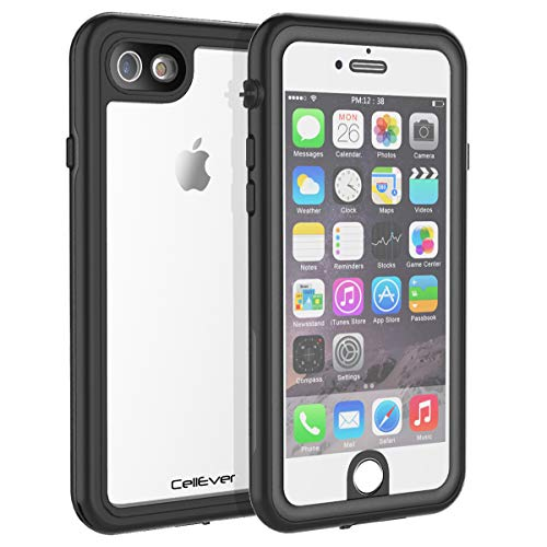 CellEver iPhone 6 / 6s Waterproof Case Shockproof IP68 Certified SandProof Snowproof Full Body Protective Clear Transparent Cover Fits Apple iPhone 6 and iPhone 6s (4.7 Inch) KZ Black