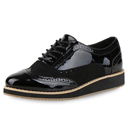Japado - Zapatos de cordones de Material Sintético para mujer negro