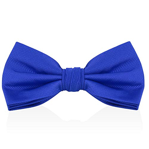 Royal Blue Kentucky Derby Bow Ties For Men - Mens Woven Pre Tied Bowties For Men Bowtie Tuxedo Solid Color Formal Bow Tie