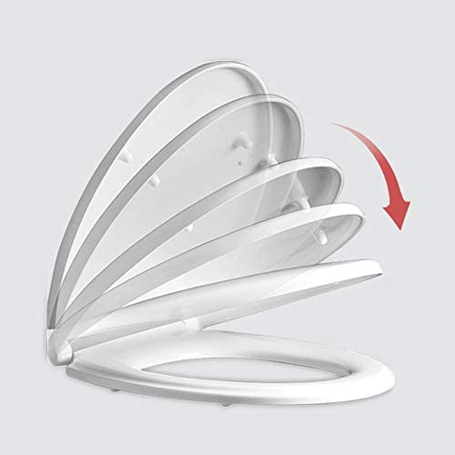 強いヒンジ付きの便座、ゆっくり閉じて便座を緩めない、楕円形/円形/V字型、耐久性、取り付け/取り外しが簡単、白