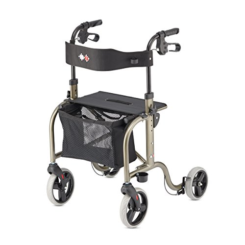 RL-Smart Lightweight Walker Rollator Foldable German Design (Platin)