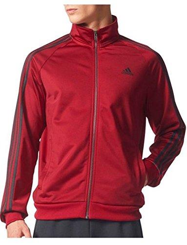 ffd6988d5a2e1 Galleon - Adidas Men's Essentials 3-Stripe Tricot Track Jacket, Collegiate  Burgundy/Black, Small