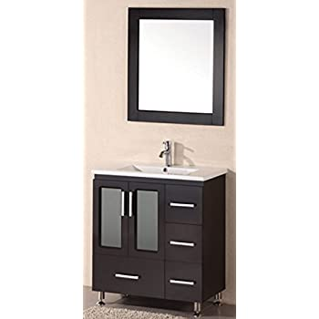 Captivating Design Element Stanton Single Drop In Sink Vanity Set With Espresso Finish,  32 Inch