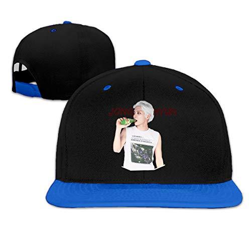 (Flat Adjustable Trucker Hip-hop Jongh Yun Take The Dive Baseball Cap Hats for Men Boys Blue)