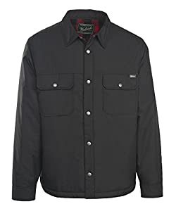 Woolrich Men's Trout Run Flannel Lined Shirt Jac Outerwear, -black, Large