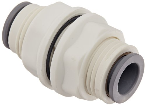 Legris 6316 60 00WP2 LIQUIfit Push-to-Connect Fitting, Inline Bulkhead Union, 3/8