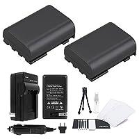 Paquete de 2 paquetes de baterías NB-2L /NB-2LH con cargador de viaje rápido y kit de accesorios UltraPro para cámaras Canon seleccionadas que incluyen EOS Digital Rebel XT, XTi, EOS 350D y 400D