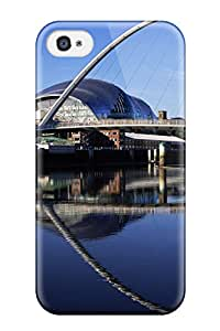 Christmas Gifts Perfect Tpu Case For Iphone 4/4s/ Anti-scratch Protector Case (gateshead Millennium Bridge, England) 7927428K14648202