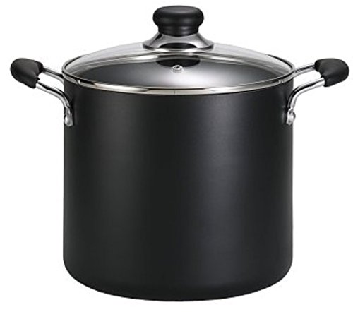 T-fal Soup Pot, Stock Pot, Dishwasher Safe Nonstick Pot, 8 Quart, Charcoal