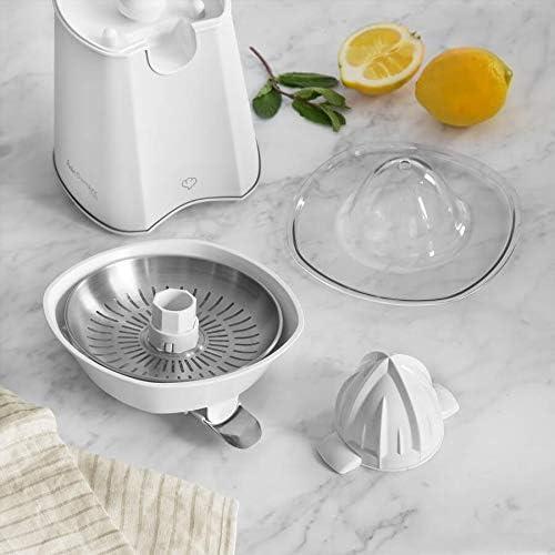 Citrons presse Saftpresse limettes Presse électrique 40 W en acier inoxydable 2 presskegel