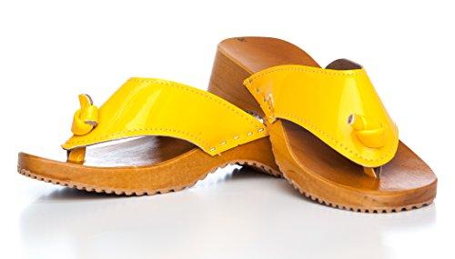 SWE Clogs - Zuecos de Material Sintético para mujer Giallo (giallo)