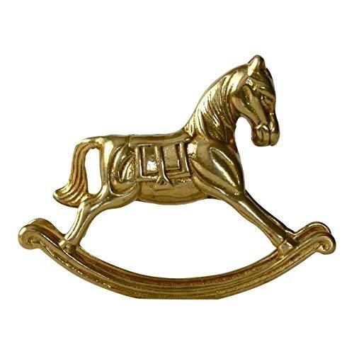 Vintage Solid Brass Rocking Horse Figurine Statue Sculpture Decor Paper Weight Baby Decor Nursery Child/'s Room