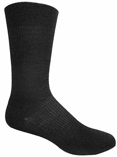 (Non-elastic top Merino Wool Dress Socks (2 Pairs) (Large (8-12 Shoe), Black))