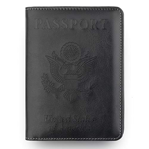 Clearance Sale!DEESEE(TM)Leather Passport Holder Wallet Cover Case RFID Blocking Travel Wallet