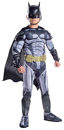 Rubie's Costume Boys DC Comics Premium Batman Costume, Small, Multicolor Batman Child Molded Belt