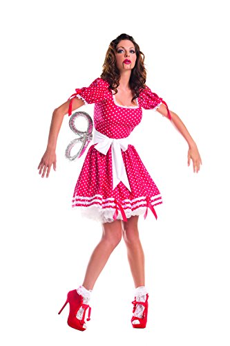 Party King Women's Wind Up Doll Costume, Red,