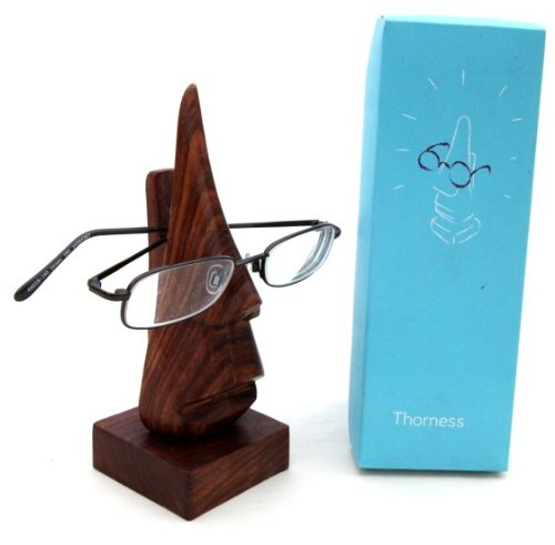 Nose-shaped-wooden-spectacle-holder