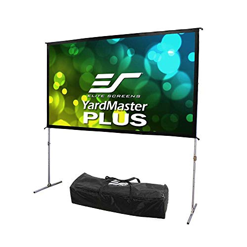 Elite Screens Yard Master Plus Series, 145-INCH, 16:9, 8K Ultra HD 3D Ready Indoor/Outdoor Portable Foldaway Home/Movie/Theater Projector Screen, Front Projection - OMS145H2PLUS, 2-YEAR WARRANTY