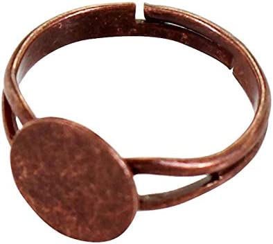 Copper Ring Blank Setting Cabochon Base inlay Ring Backs Mounting Adjustable Ring Base Bezel 50x10mm blank Antique Copper Plated G16824