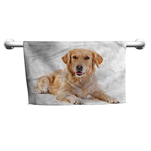 flybeek Bath Towel Golden Retriever,Young Puppy,Hooded Pool Towel for Kids