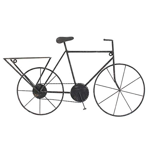 Stonebriar Vintage Bicycle Wall Art, Black (Sculpture Bicycle Wall)