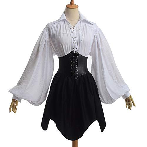 GRACEART Women Renaissance Waist Cincher Corset Skirt Small Black