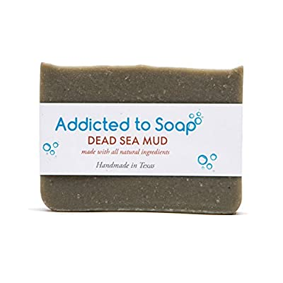 Addicted to Soap – Dead Sea Mud Eczema & Psoriasis Soap Bar 100% Organic & Natural Homemade Bar Soap Use on Baby & Kids Men & Women Best Eczema & Psoriasis Soap for Hand Face & Body!