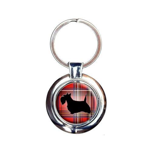 Scottie Dog on Red Plaid Scottish Terrier Keychain Key (Scottish Key Ring)