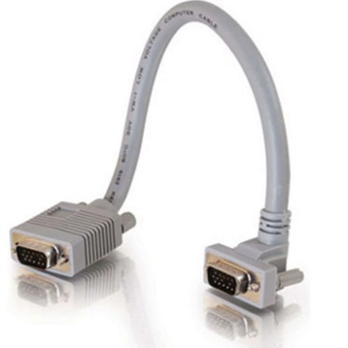 1ft Premium Shielded HD15 SXGA M/M Monitor Cable with 90° Upward-Angled Male ()