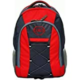 CORUS Polyster Laptop Backpack(Red and Grey, 591, 40L)